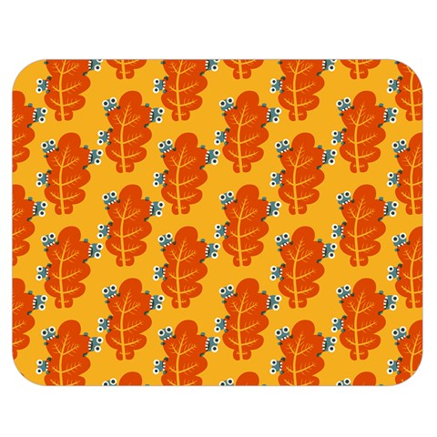 Bugs Eat Autumn Leaf Pattern Double Sided Flano Blanket (Medium)