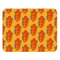 Bugs Eat Autumn Leaf Pattern Double Sided Flano Blanket (large)