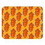 Bugs Eat Autumn Leaf Pattern Double Sided Flano Blanket (Large)  80 x60 Blanket Front