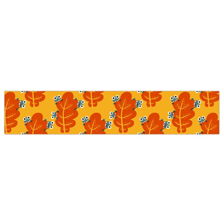 Bugs Eat Autumn Leaf Pattern Flano Scarf (Small)