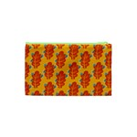 Bugs Eat Autumn Leaf Pattern Cosmetic Bag (XS) Back