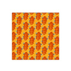 Bugs Eat Autumn Leaf Pattern Satin Bandana Scarf