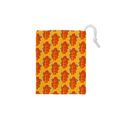 Bugs Eat Autumn Leaf Pattern Drawstring Pouches (xs)