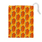 Bugs Eat Autumn Leaf Pattern Drawstring Pouches (Extra Large) Front