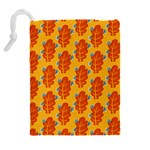 Bugs Eat Autumn Leaf Pattern Drawstring Pouches (Extra Large) Back