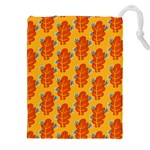 Bugs Eat Autumn Leaf Pattern Drawstring Pouches (XXL) Front