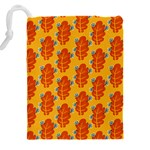 Bugs Eat Autumn Leaf Pattern Drawstring Pouches (XXL) Back