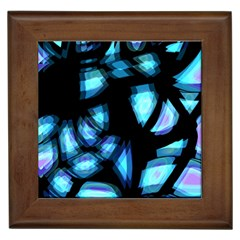 Blue Light Framed Tiles