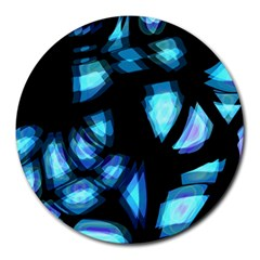 Blue light Round Mousepads