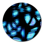 Blue light Round Mousepads Front
