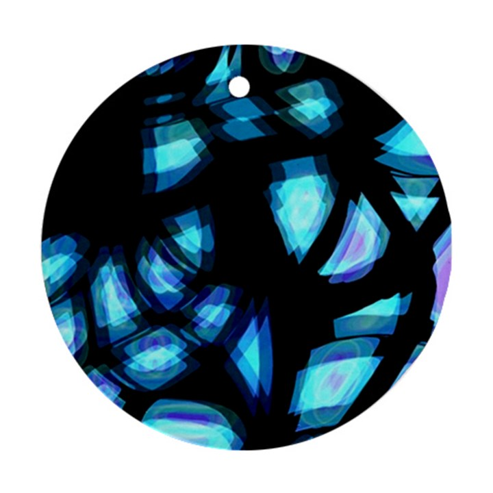 Blue light Ornament (Round)