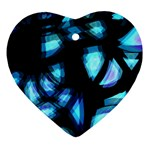 Blue light Ornament (Heart)  Front