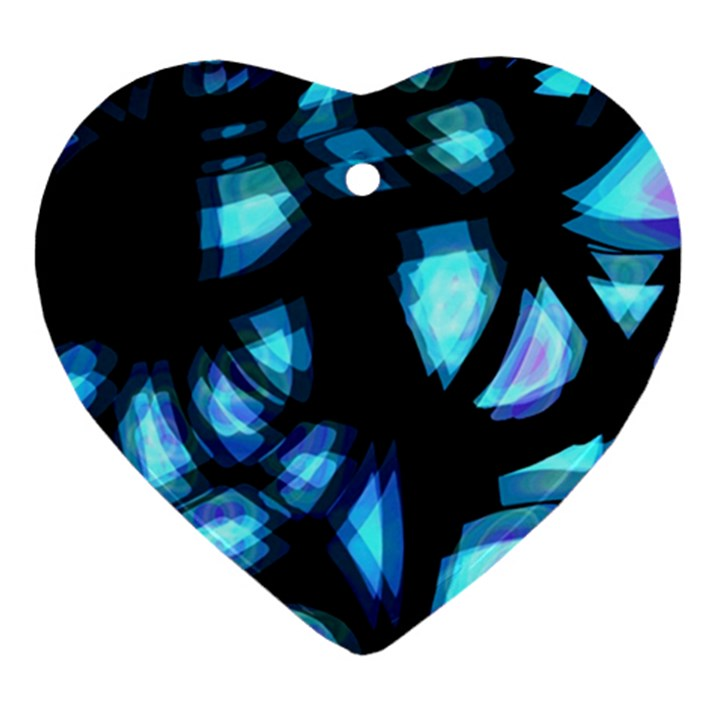 Blue light Ornament (Heart)