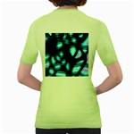 Blue light Women s Green T-Shirt Back