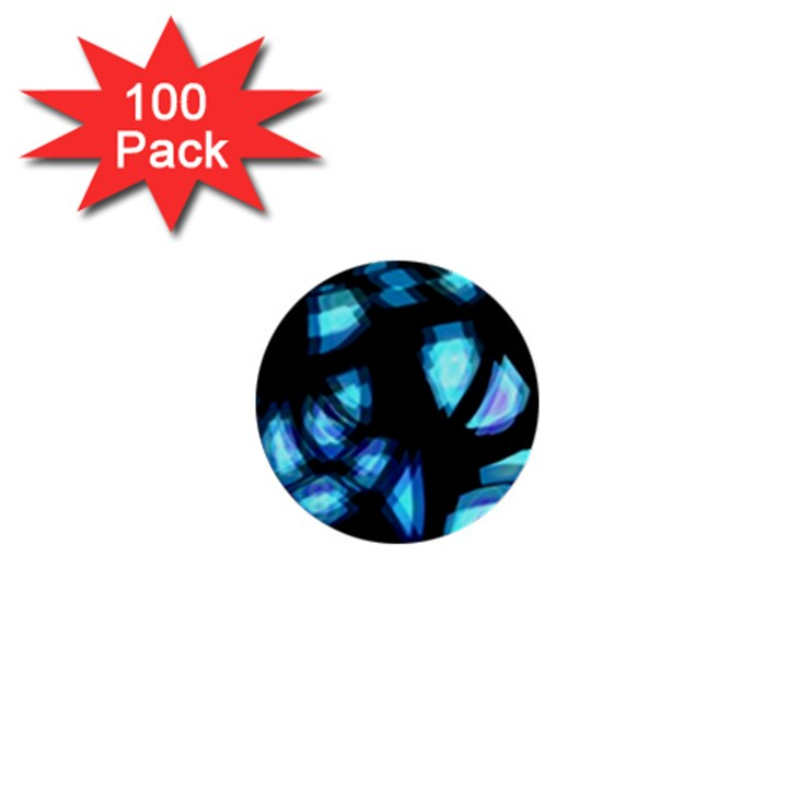 Blue light 1  Mini Buttons (100 pack)