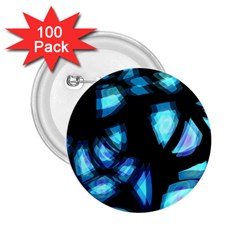 Blue Light 2 25  Buttons (100 Pack)