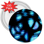 Blue light 3  Buttons (100 pack)  Front