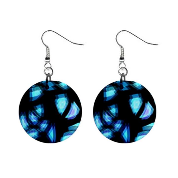 Blue light Mini Button Earrings
