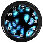 Blue light Wall Clocks (Black) Front