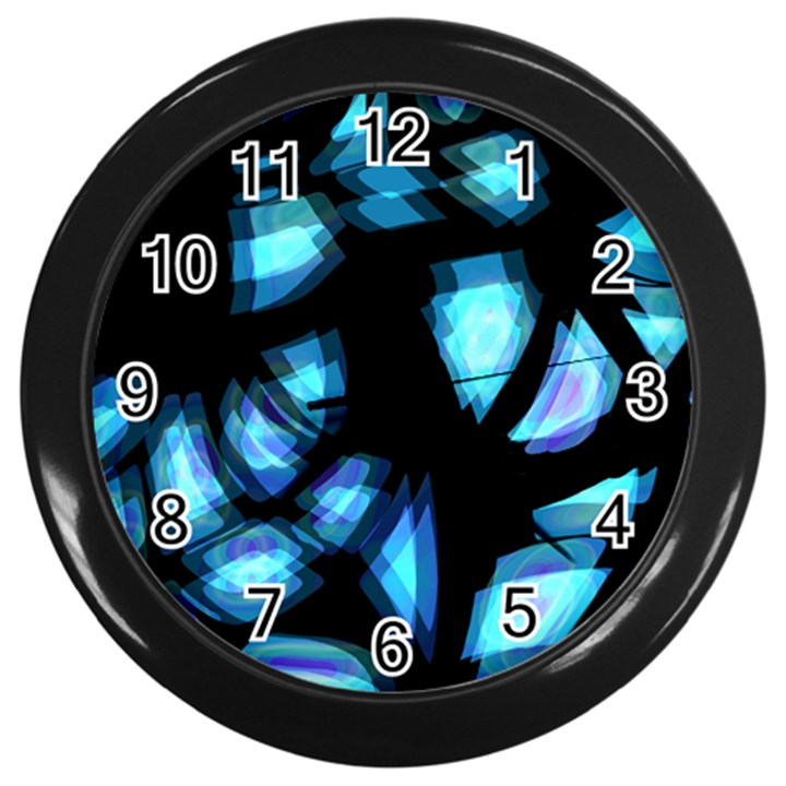 Blue light Wall Clocks (Black)