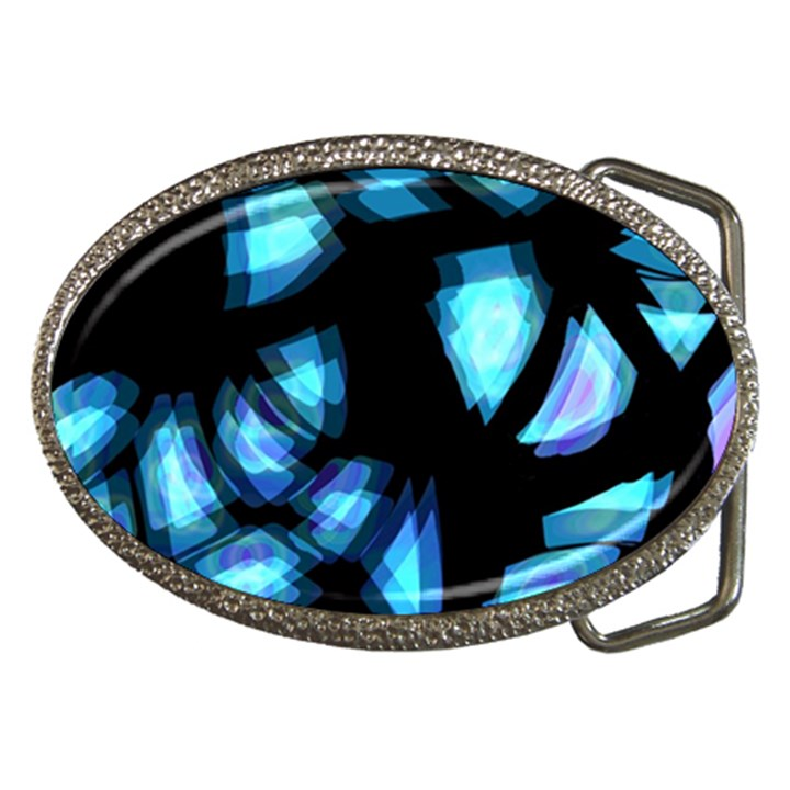 Blue light Belt Buckles