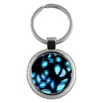 Blue light Key Chains (Round)  Front