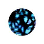 Blue light Rubber Round Coaster (4 pack)  Front