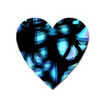 Blue light Heart Magnet Front