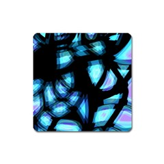 Blue Light Square Magnet