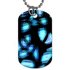 Blue light Dog Tag (One Side)