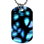 Blue light Dog Tag (One Side) Front