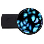 Blue light USB Flash Drive Round (2 GB)  Front