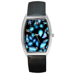 Blue Light Barrel Style Metal Watch