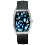 Blue light Barrel Style Metal Watch Front
