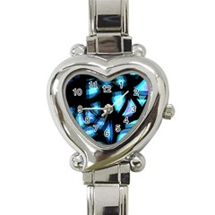 Blue Light Heart Italian Charm Watch