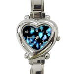 Blue light Heart Italian Charm Watch Front