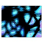 Blue light Rectangular Jigsaw Puzzl Front