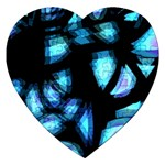 Blue light Jigsaw Puzzle (Heart) Front