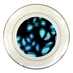Blue light Porcelain Plates Front