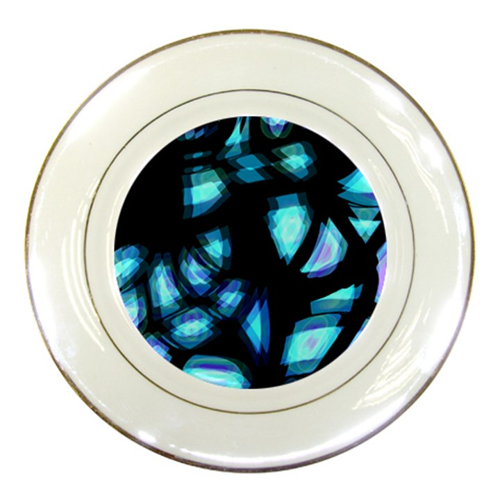 Blue light Porcelain Plates