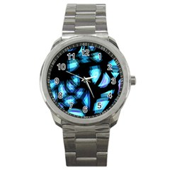 Blue light Sport Metal Watch