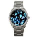 Blue light Sport Metal Watch Front