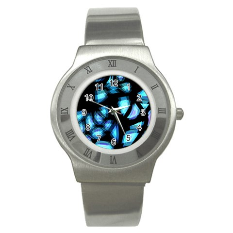 Blue light Stainless Steel Watch