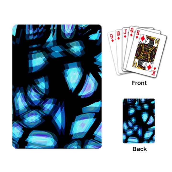 Blue light Playing Card