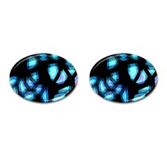 Blue light Cufflinks (Oval)