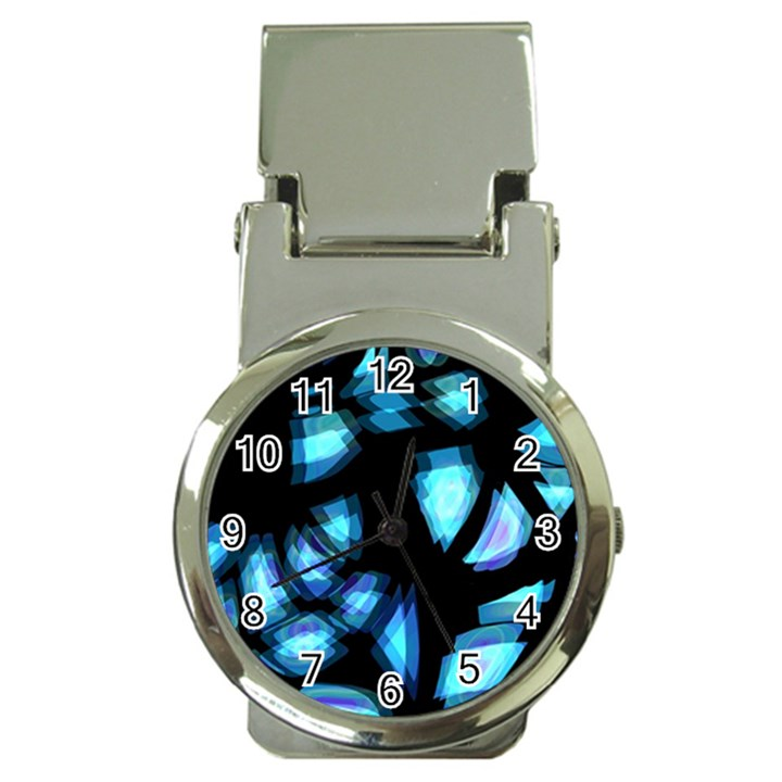 Blue light Money Clip Watches