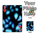 Blue light Playing Cards 54 Designs  Front - Heart5