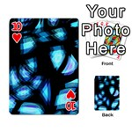Blue light Playing Cards 54 Designs  Front - Heart10