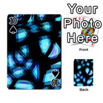 Blue light Playing Cards 54 Designs  Front - Spade10