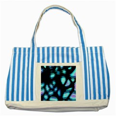 Blue light Striped Blue Tote Bag